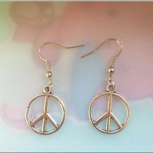 """Jewelry - ✨PEACEFUL Earrings 1.9"""" Silver Plated Earrings ✨"""